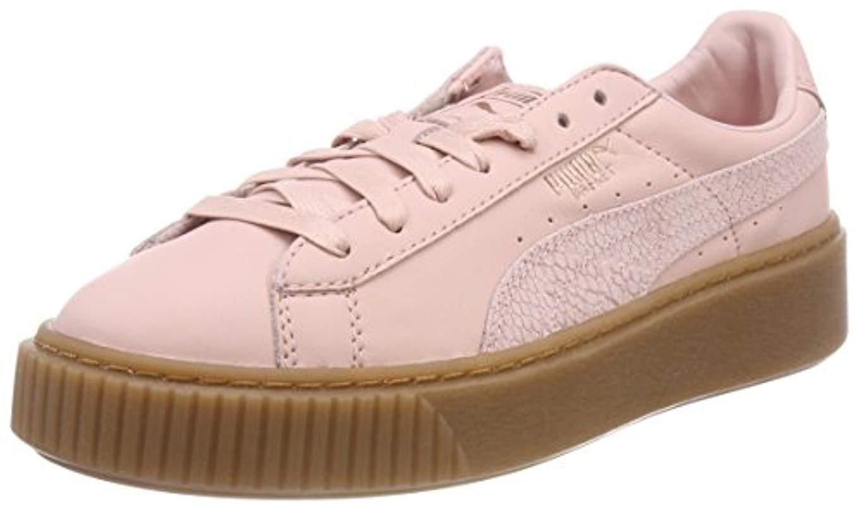 PUMA Basket Platform Velvet Sneakers in