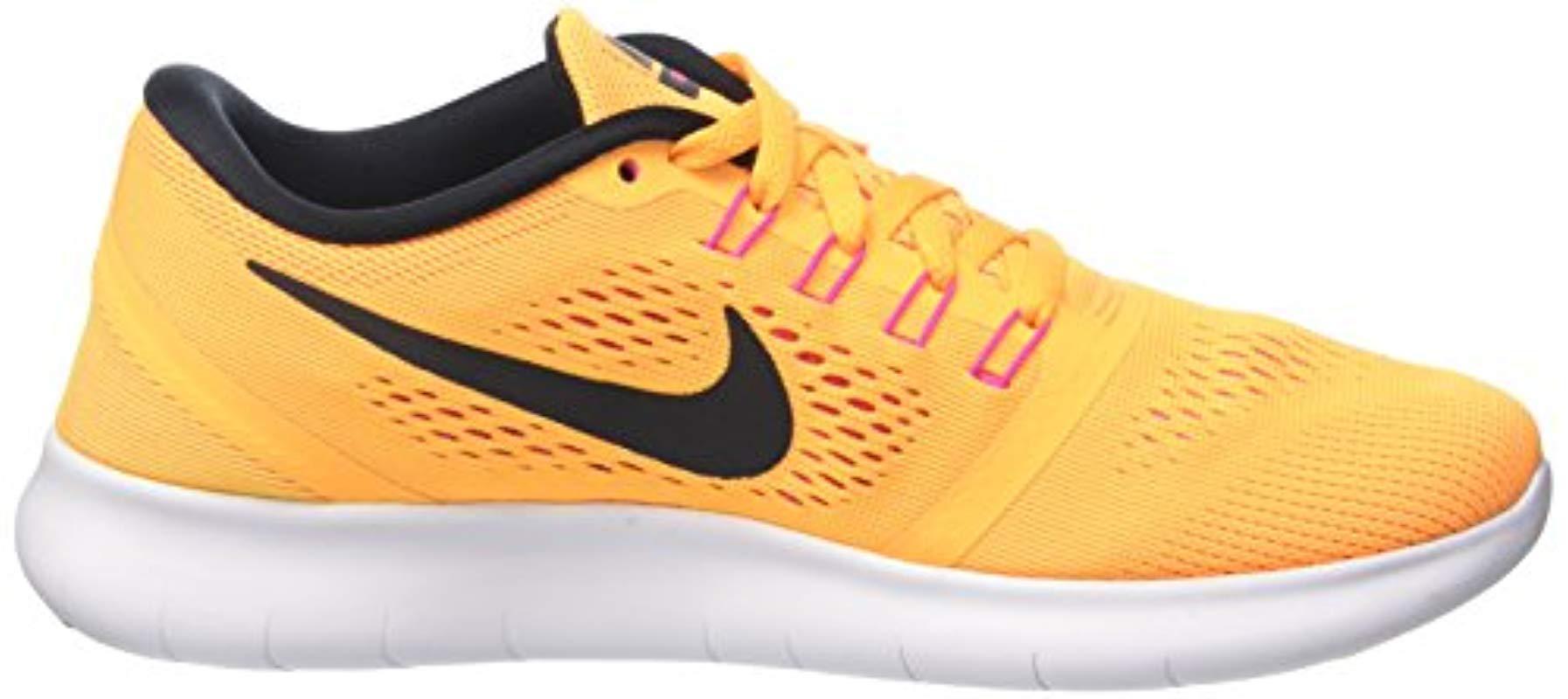 Wmns Free RN, Zapatillas de Gimnasia para Mujer Nike de Fieltro