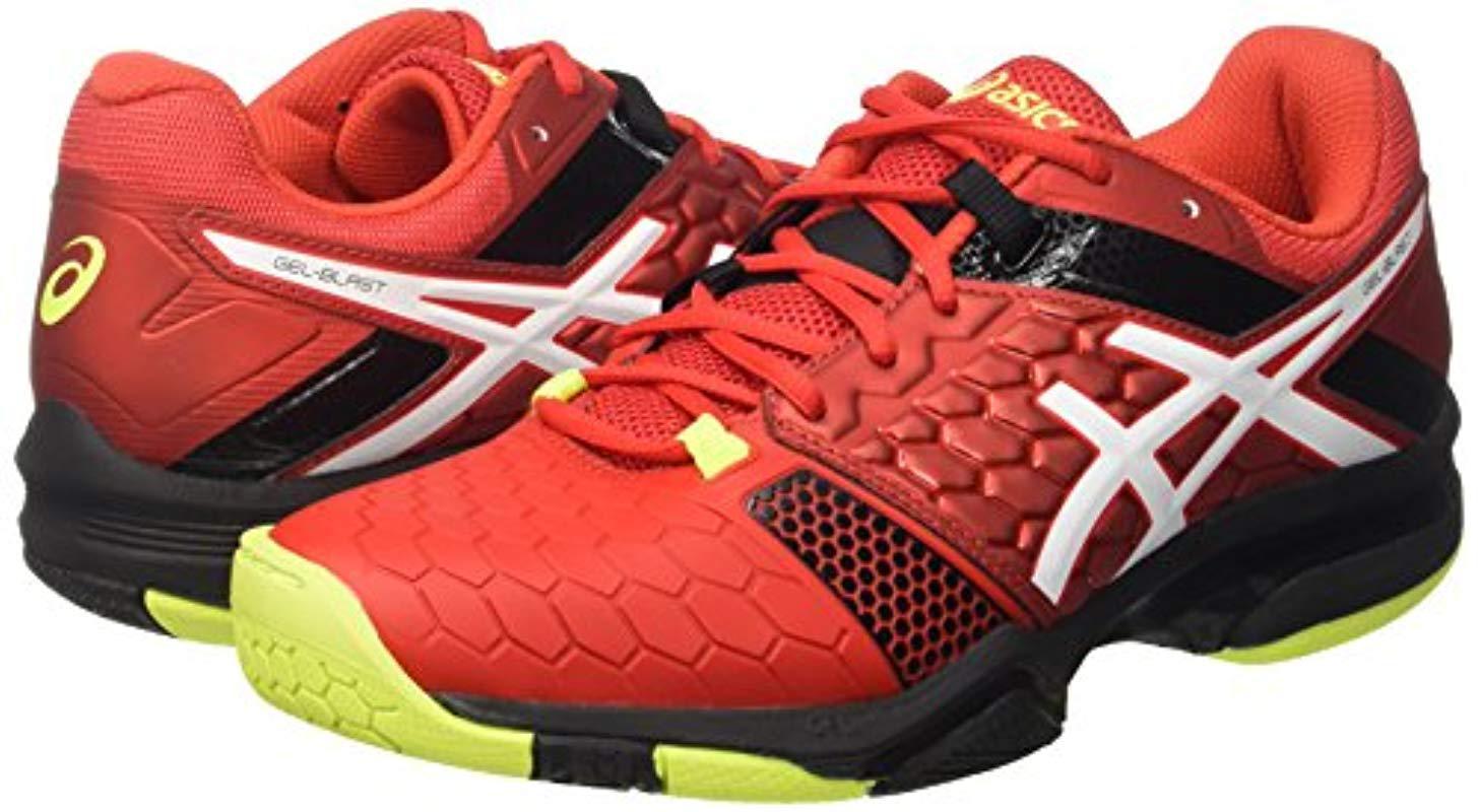 Men Asics For 's Shoes Gel Blast 7 Handball Red QtrdsCh