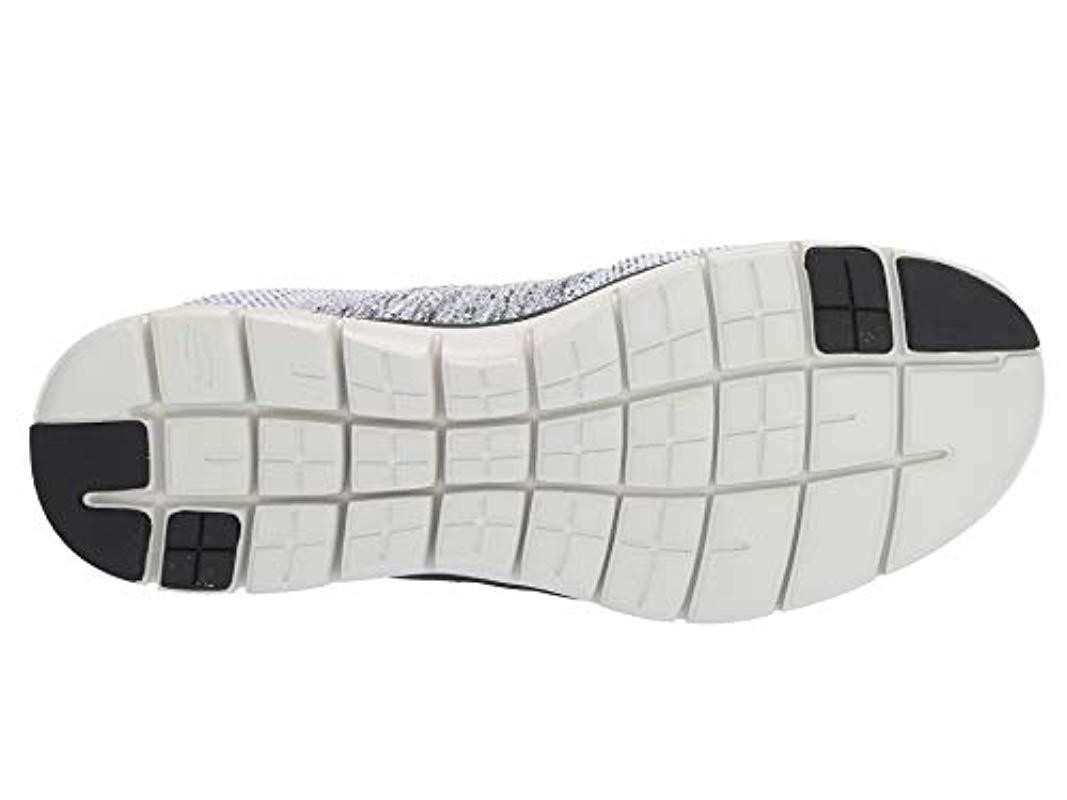 Skechers Rubber Flex Advantage 2.0 Trainers in Black White (Black) for Men