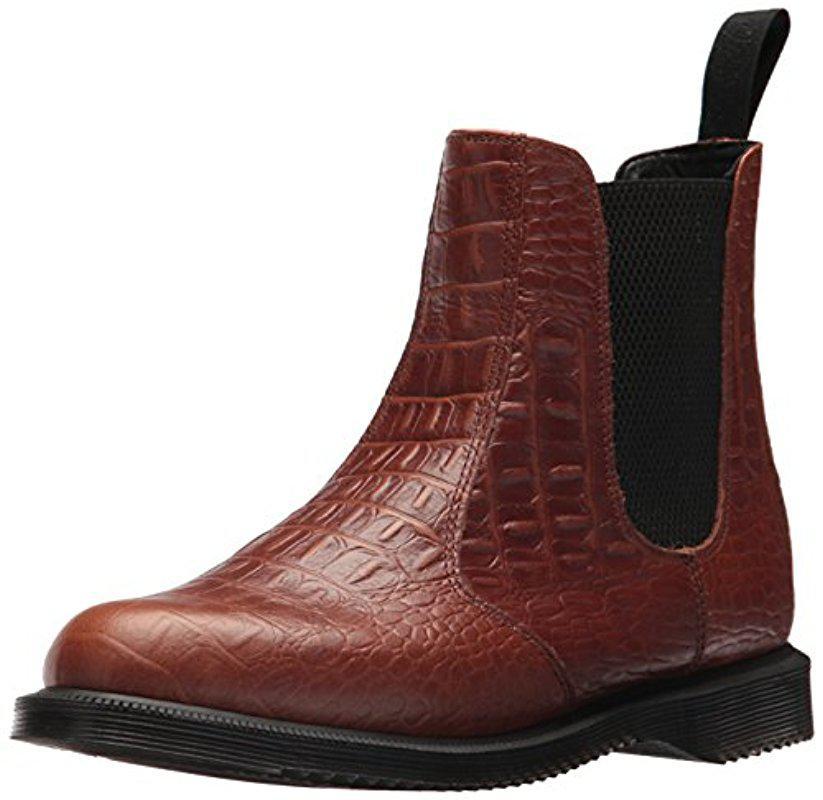 Dr. Martens Leather Flora Croc Fashion