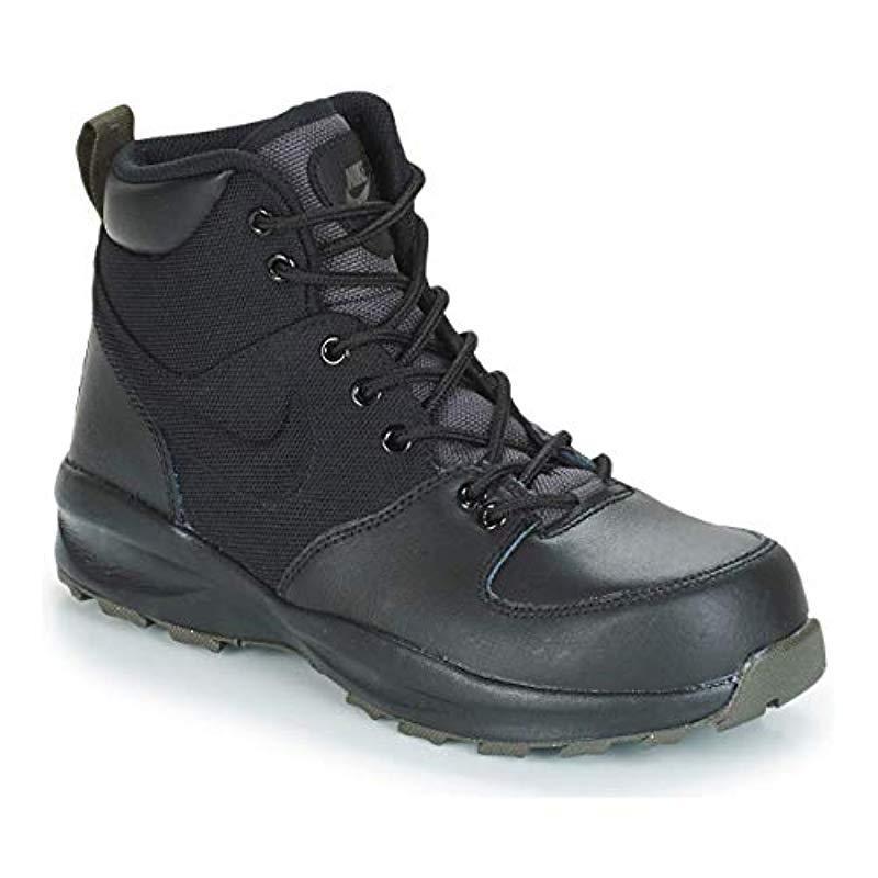 a6c8e68ce303a Nike Black Manoa Leather Hiking Boot for men