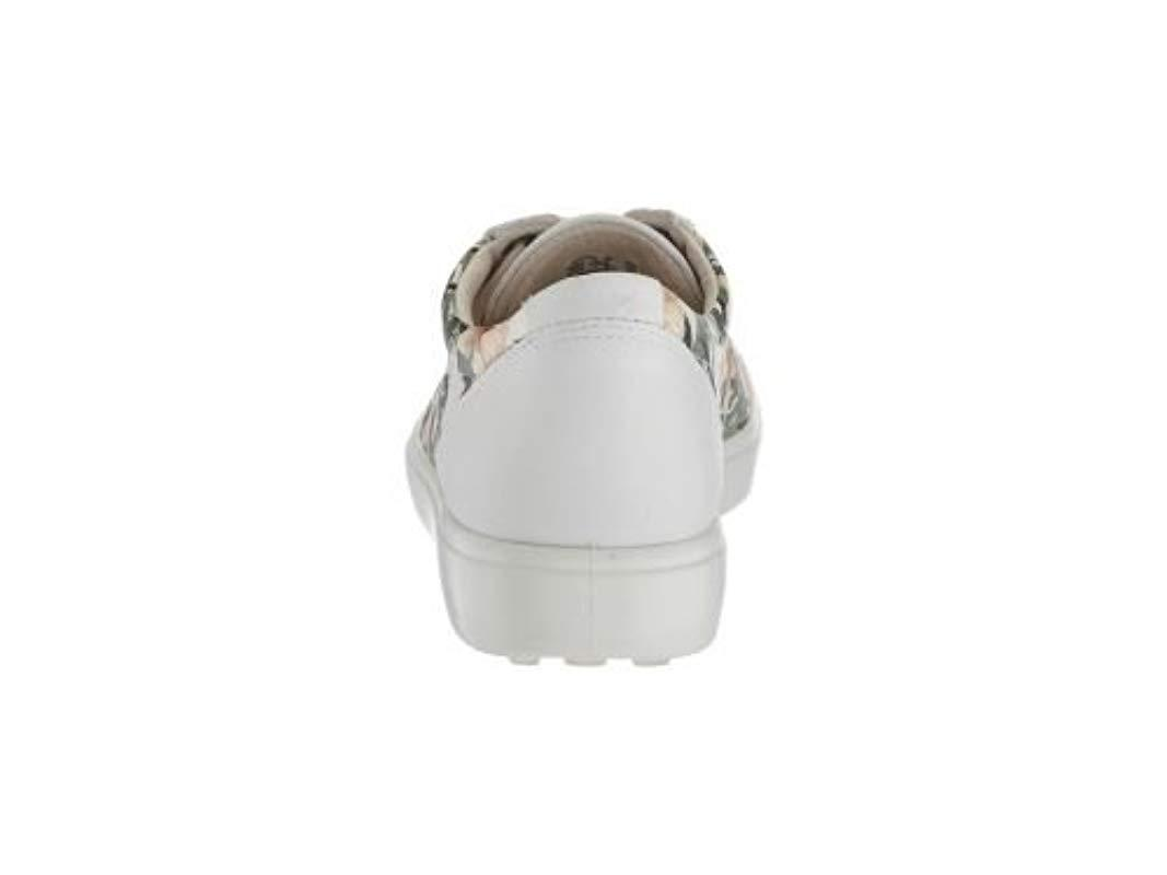Ecco Lace Soft 7 Sneaker in White