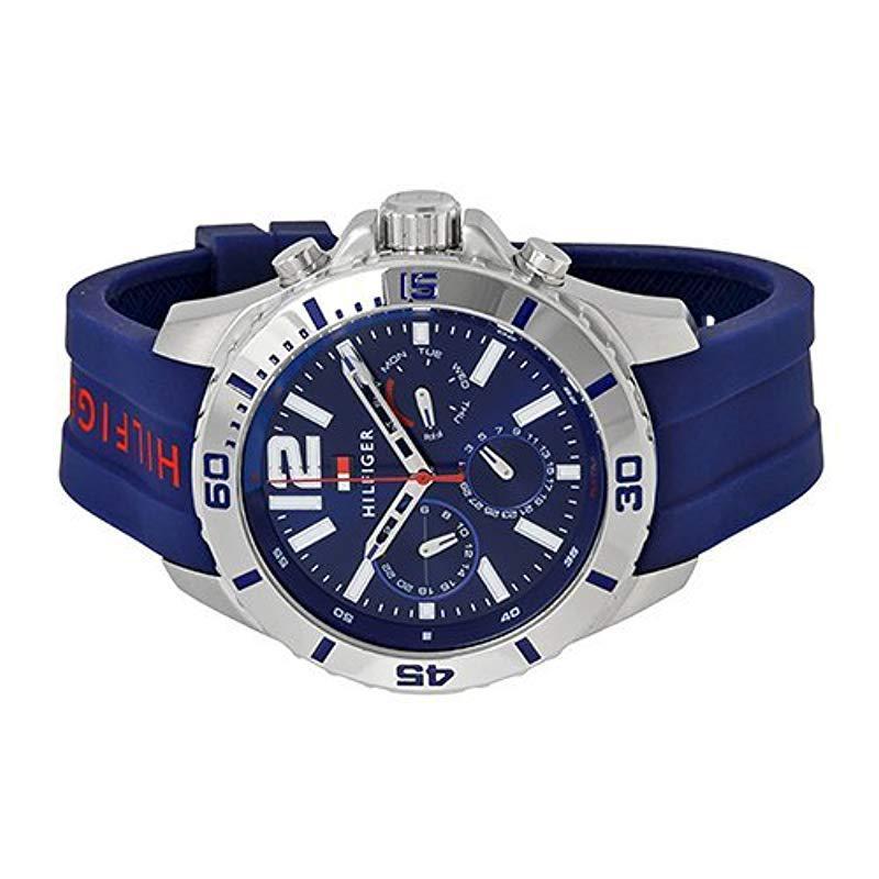 Inmigración Adulto sin embargo  Tommy Hilfiger 1791142 Cool Sport Analog Display Quartz Blue Watch for Men  - Save 7% - Lyst