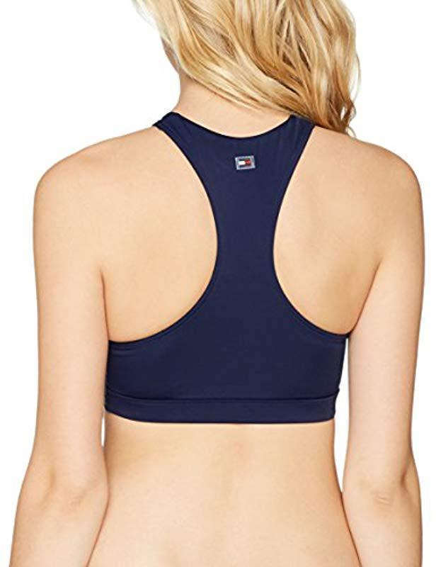57aa97b517346 Tommy Hilfiger - Blue Crop Rp Bikini Top - Lyst. View fullscreen