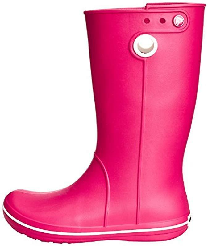 Crocs Crocband Jaunt (Raspberry) Women's Rain Boots ($35