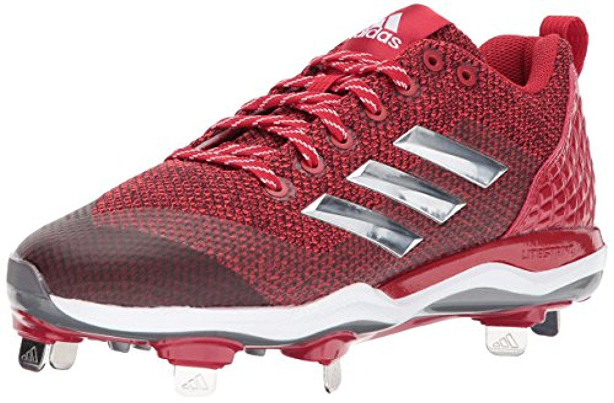 Lyst - Adidas Poweralley 5 S Baseball Shoes in Red for Men 739532fc51e