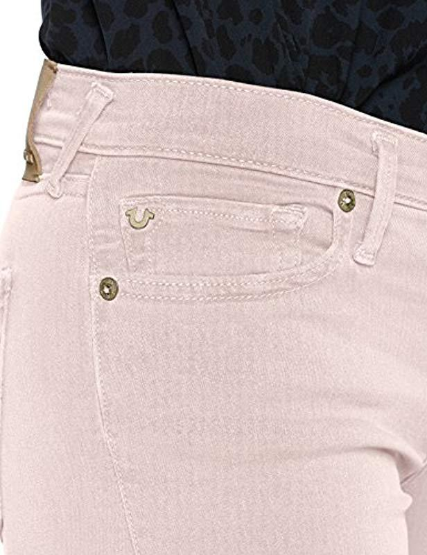 Halle Religion Jeans Pink In Lavender True Dyed Lyst Long Skinny Z6n1wq5