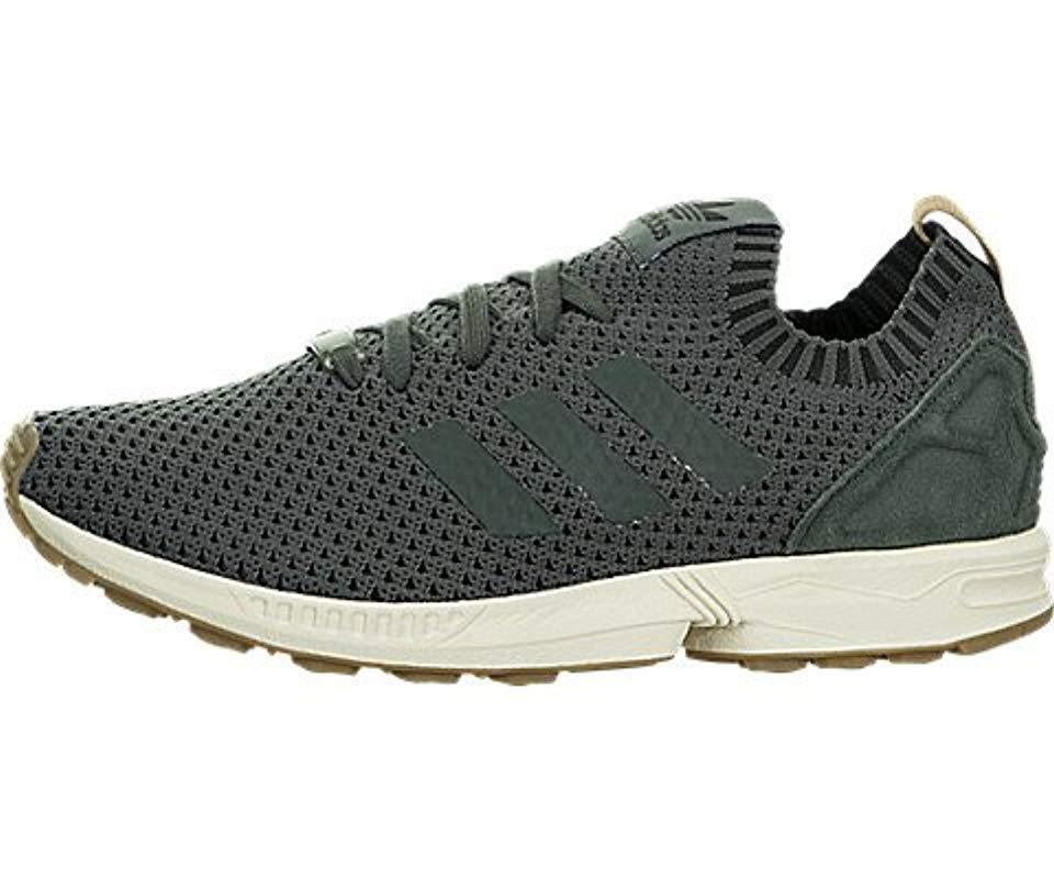 lyst adidas originali zx flusso scarpe da ginnastica in verde per salvare 22% uomini