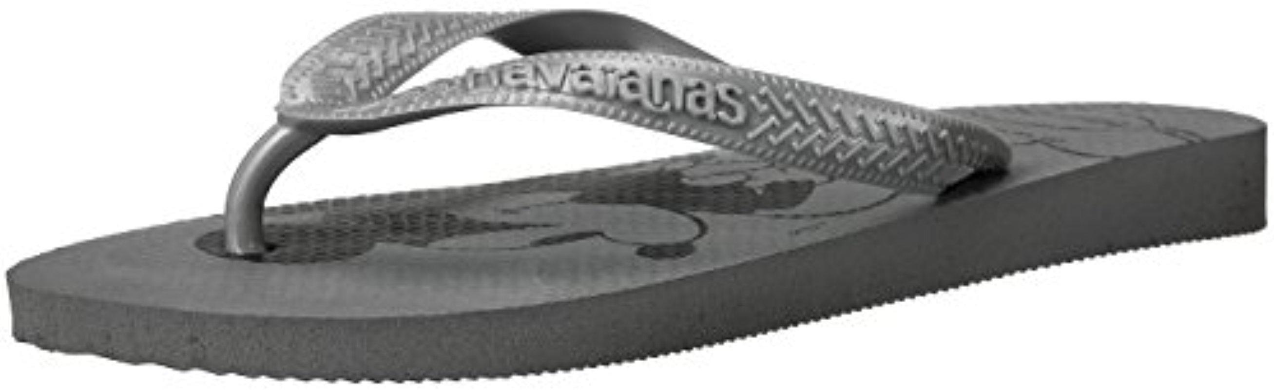 Havaianas Women's Top Tiras Sandal Flip Flop, Steel Grey, 41 BR/11/12 W US