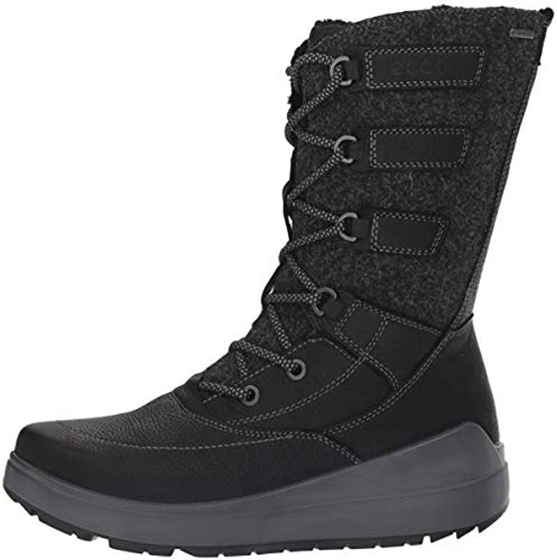 Ecco Fur 834633 High Boots in Black