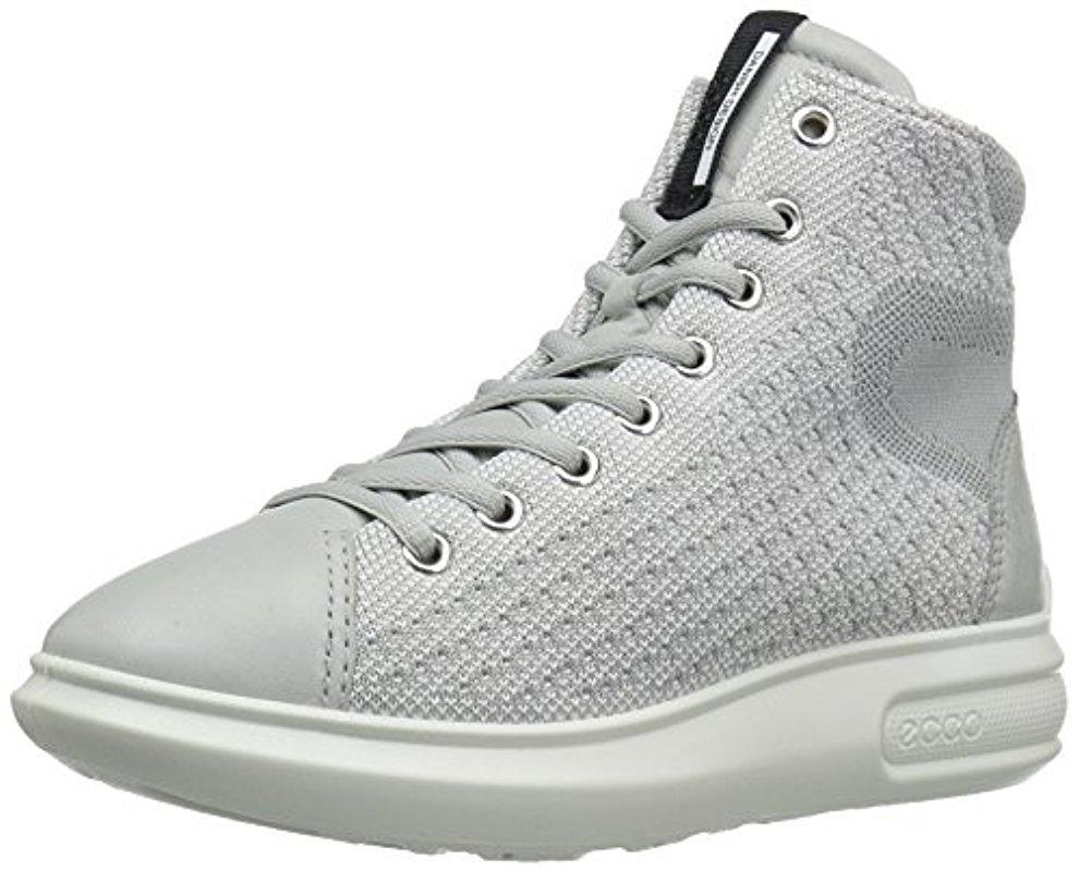 Ecco Leather Soft 3 Fashion Sneaker in