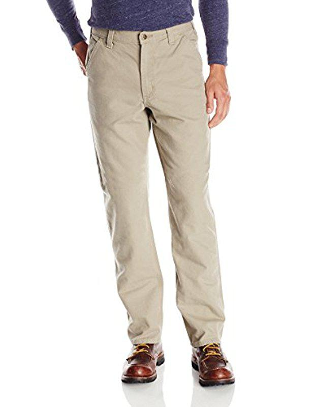 4044d94d9389 Carhartt. Men s Natural Relaxed Fit Washed Duck Work Dungaree Pant