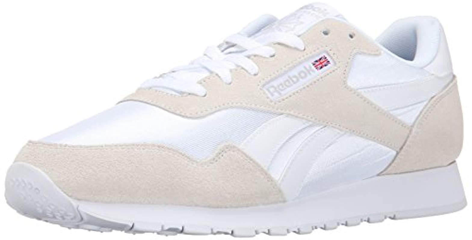 4f22289a87f40 Lyst - Reebok Royal Nylon Classic Sneaker Fashion in White for Men