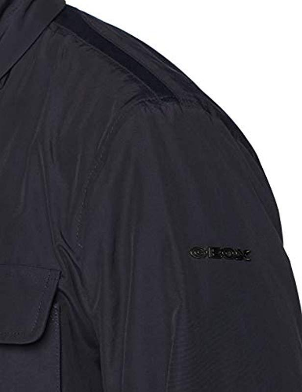 Dominante ven falso  Geox Cotton M Vincit Jacket in Blue for Men - Lyst