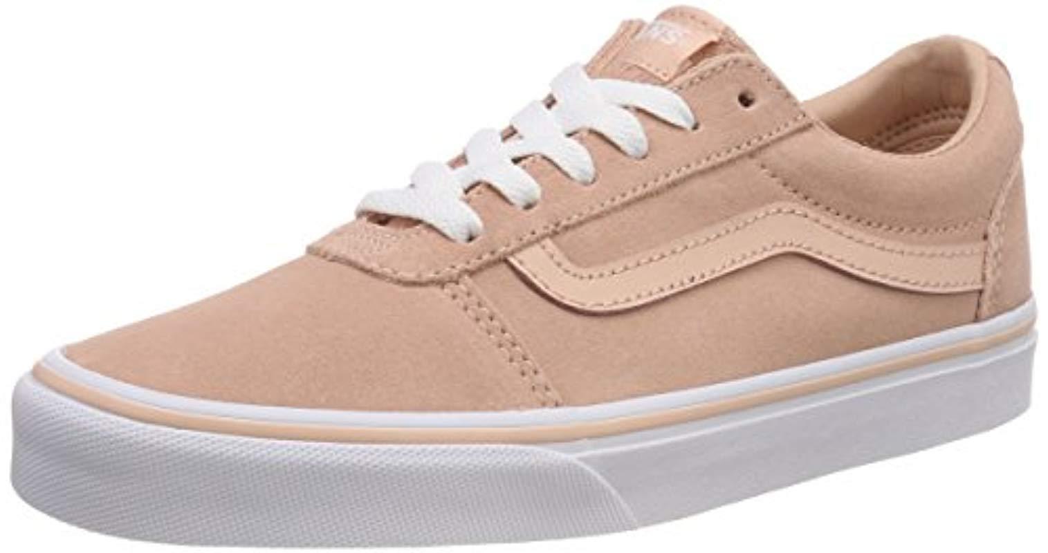 Vans  s Ward Suede Low-top Sneakers in Pink - Lyst 830c14e6a