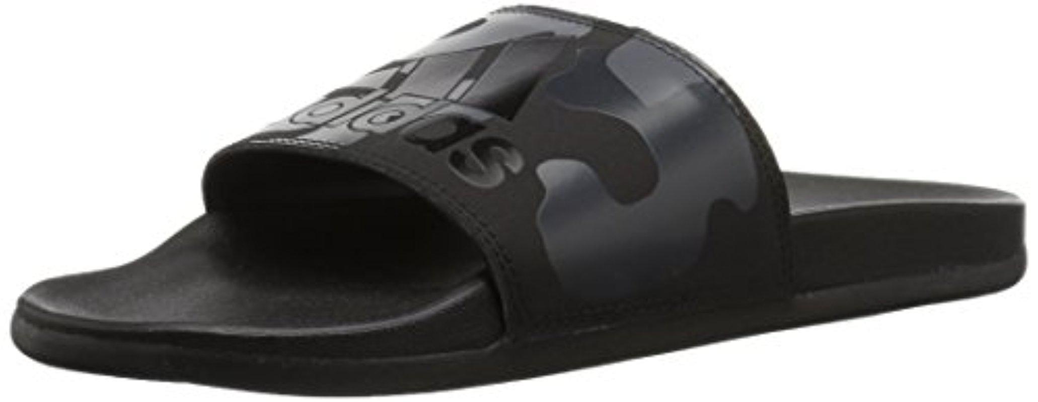 6d135578855b1d Lyst - adidas Adilette Cf+ Link Gr Slide Sandal in Black for Men