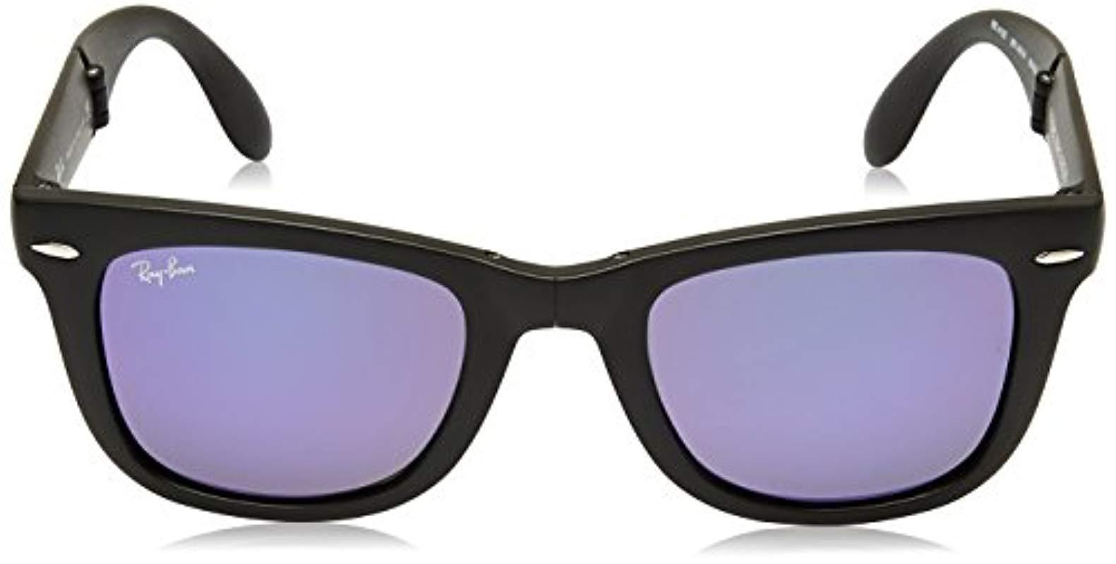 83296bc47 Ray-Ban - Black Rb4105 Wayfarer Folding Non-polarized Sunglasses 50mm - Lyst.  View fullscreen