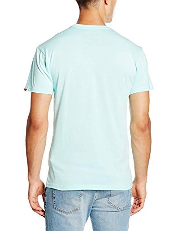 257b9884e5 Vans High   Dry T-shirt in Blue for Men - Lyst