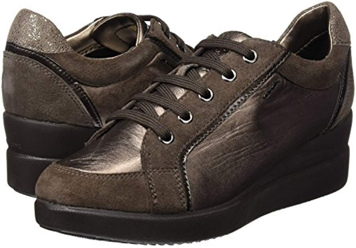D Stardust A, Zapatillas para Mujer Geox de Cuero