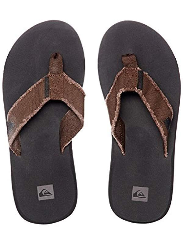 c6f4619883f1 Quiksilver - Brown Monkey Abyss Three-point Sandal for Men - Lyst. View  fullscreen