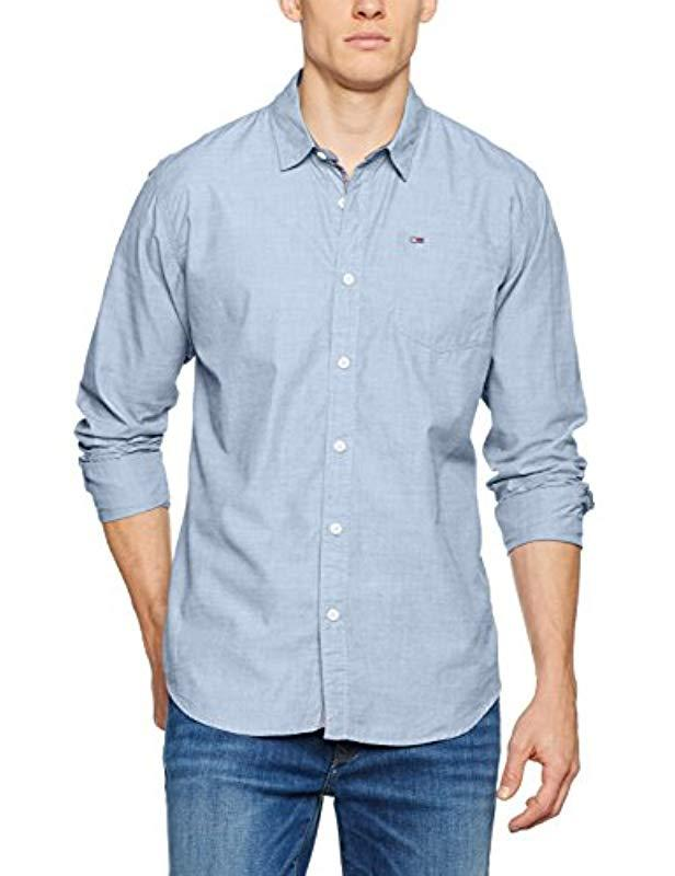 2a4e54d5002621 Tommy Hilfiger Solid Casual Shirt in Blue for Men - Lyst