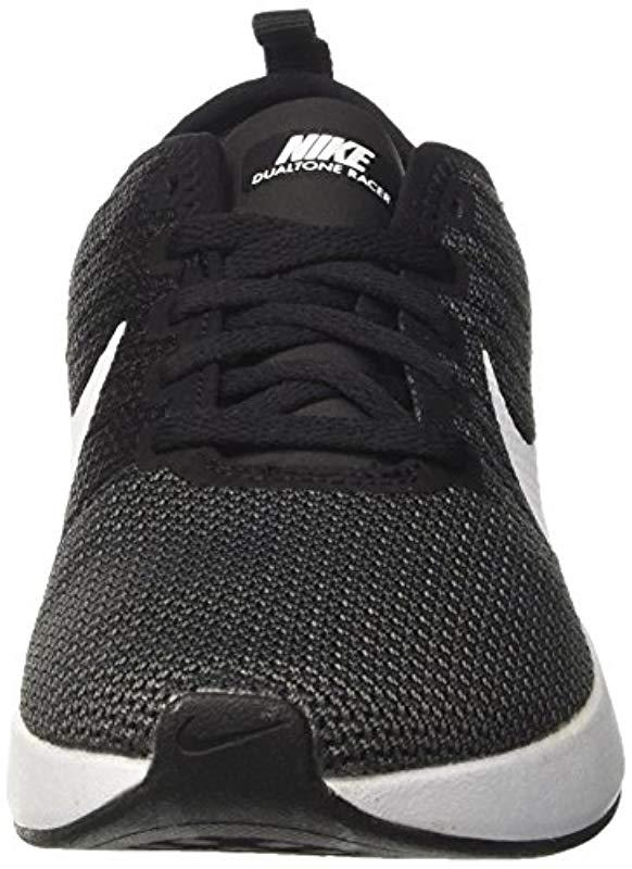 W Dualtone Racer, Zapatillas de Running Mujer Nike de color Negro