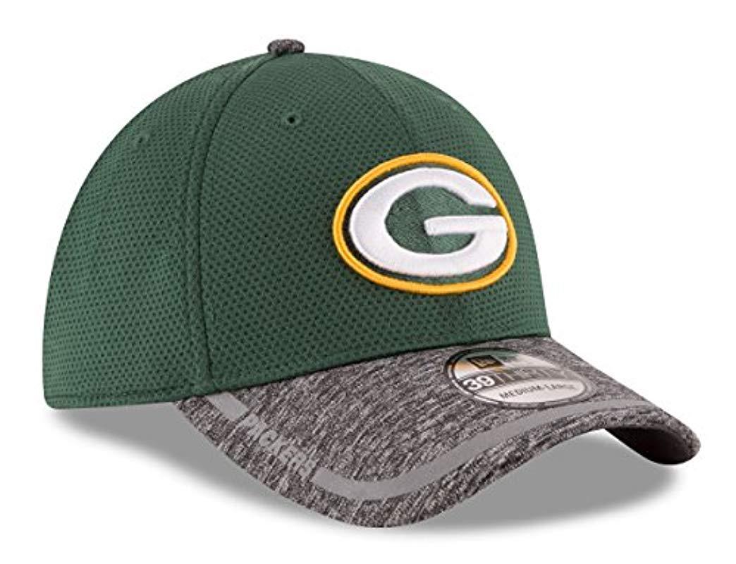 7c484026fee3ee Lyst - KTZ Green Bay Packers 2016 Training Camp 39thirty Flex Fit ...