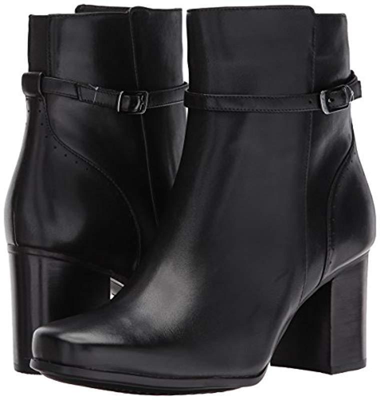 Clarks Kensett Diana Ankle Bootie in Black Leather (Black)