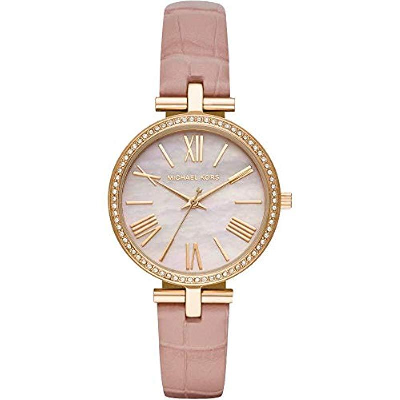 f37d114621aa Reloj Analógico para Mujer de Cuarzo con Correa en Cuero MK2790 ...