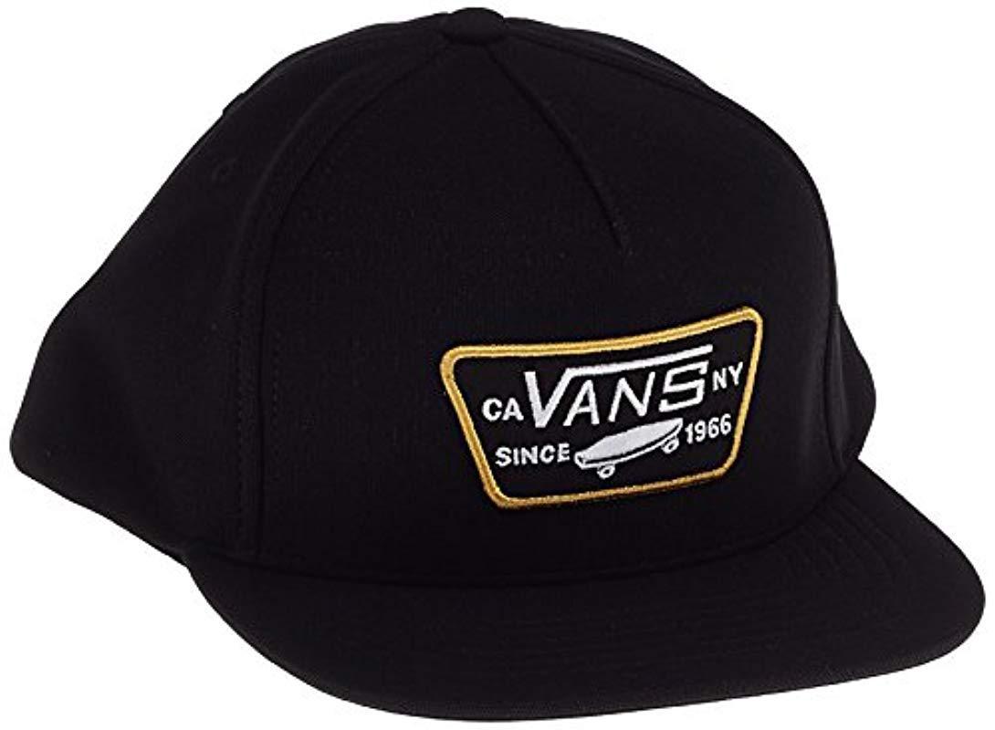 Vans Full Patch Snapback Baseball Cap in Black for Men - Lyst 11ab6a63093