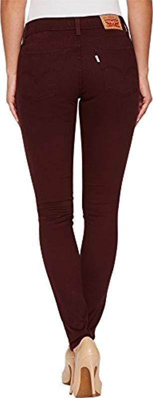 710 Super JeansSoft Skinny Malbec24us 00R Red Levi's OZikTPuX