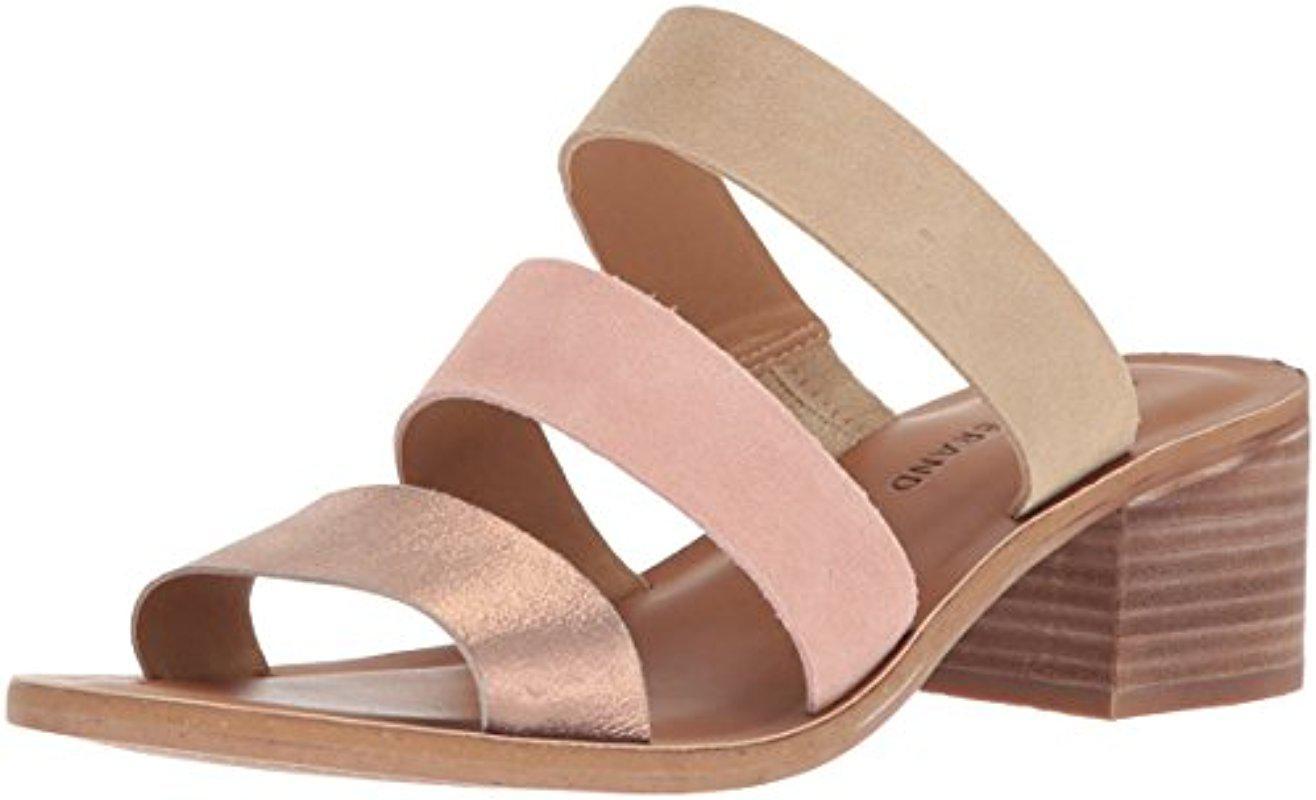 Lucky Brand Rileigh2 Multi Color Suede Block Heel Sandals BuLyBvQg