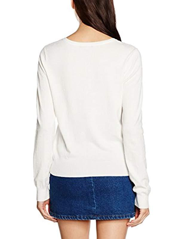 Vero Moda Vmglory Misa Ls Rep Cardigan in White - Lyst 7452dd32b973