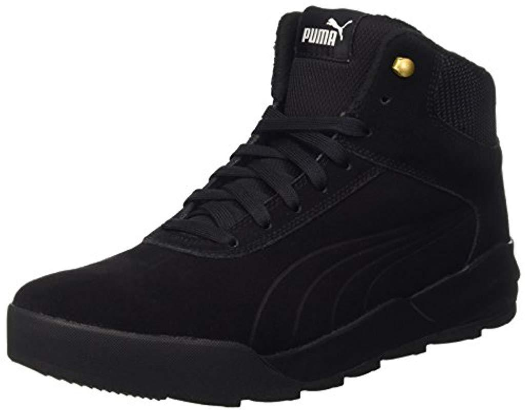 Puma Unisex Adults  Desierto Sneaker Hi-top Trainers in Black for ... 73a395c5a
