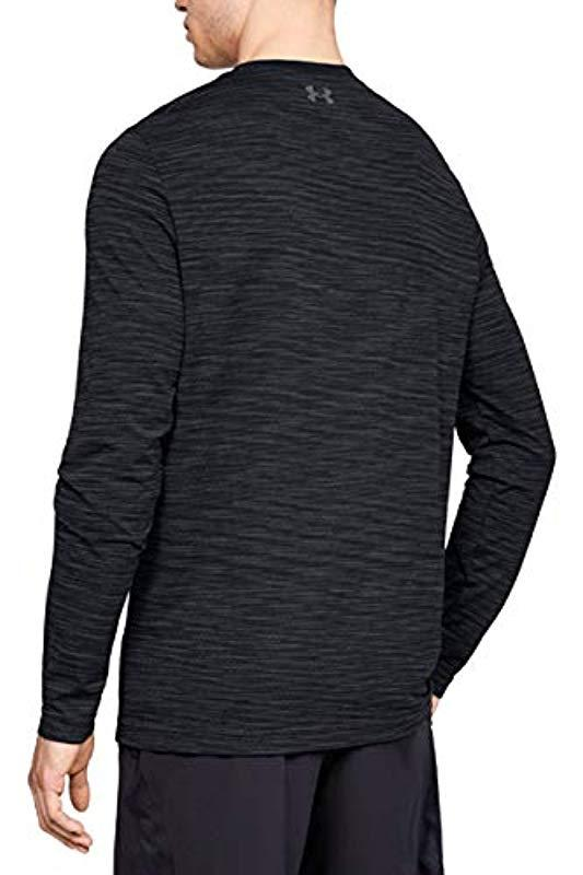 Mens T Shirt with Tight Cut Under Armour Vanish Seamless Long-Sleeve Gym T Shirt Cool and Breathable Running Apparel for Men