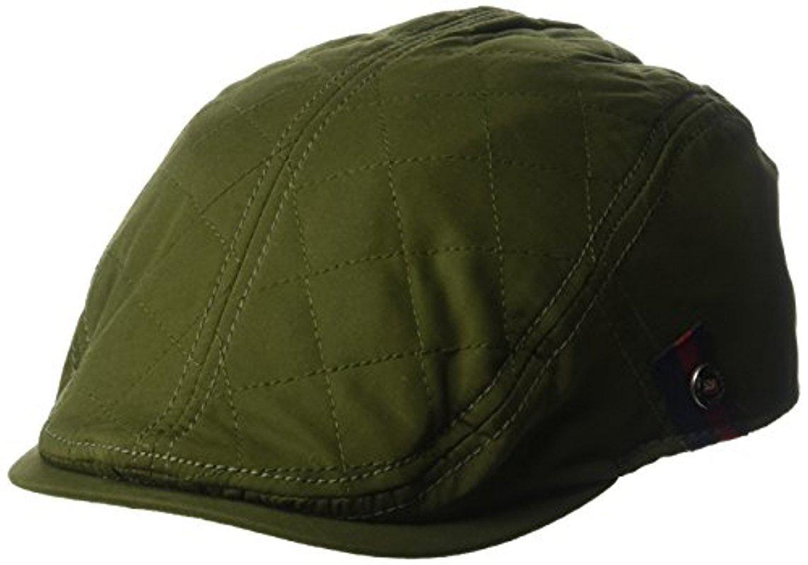 328e329e656 Lyst - Ben Sherman Brushed Nylon Quilt Ivy Cap in Green for Men