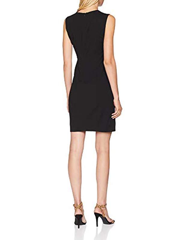 Love Moschino Sleeveless Sheath Logo Embroidery Dress in Black - Save 18% -  Lyst f6d5424982e