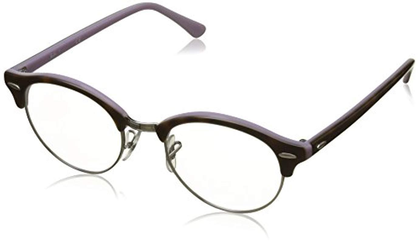 66e52aeb8e3 Ray-Ban. Women s Brown Rx4246v Clubround Glasses In Dark Havana Rx4246v 2012  49