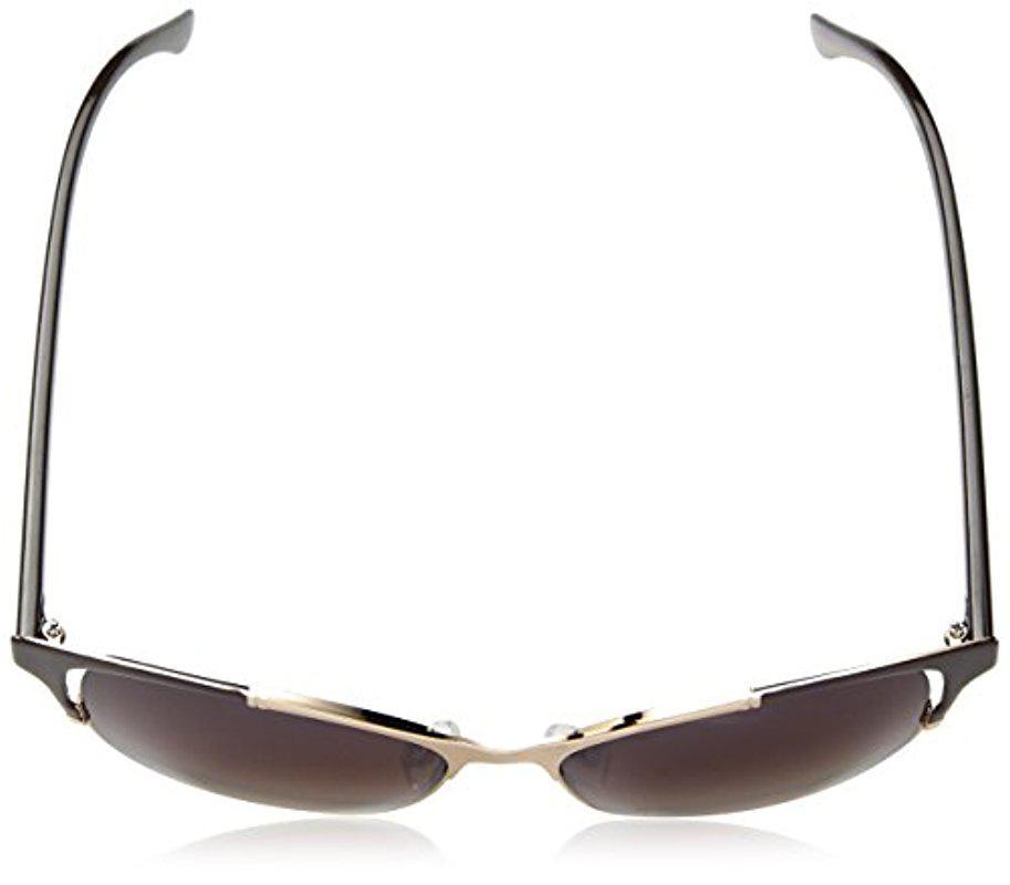 New Nanette Lepore Women/'s Sunglasses Cateye gold//brown