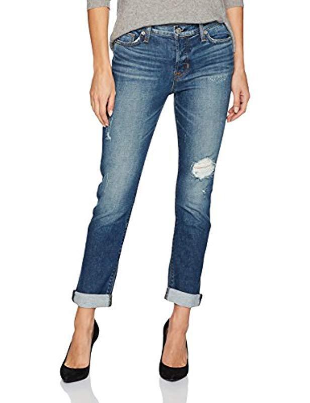 Hudson Jeans Womens Riley Crop Easy Slim Boyfriend 5 Pocket Jeans