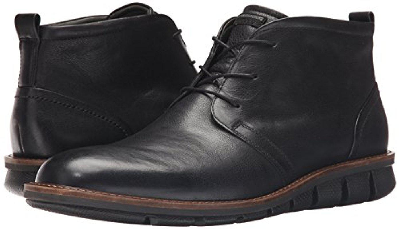 Ecco Leather Jeremy Hybrid Boot Chukka