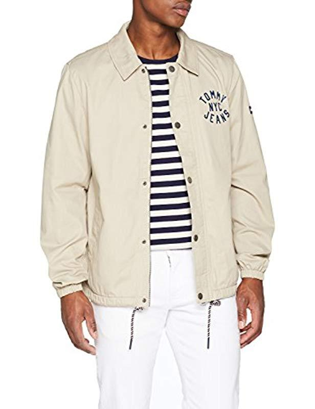 547a95dc Tommy Hilfiger Coach Jacket in Natural for Men - Lyst