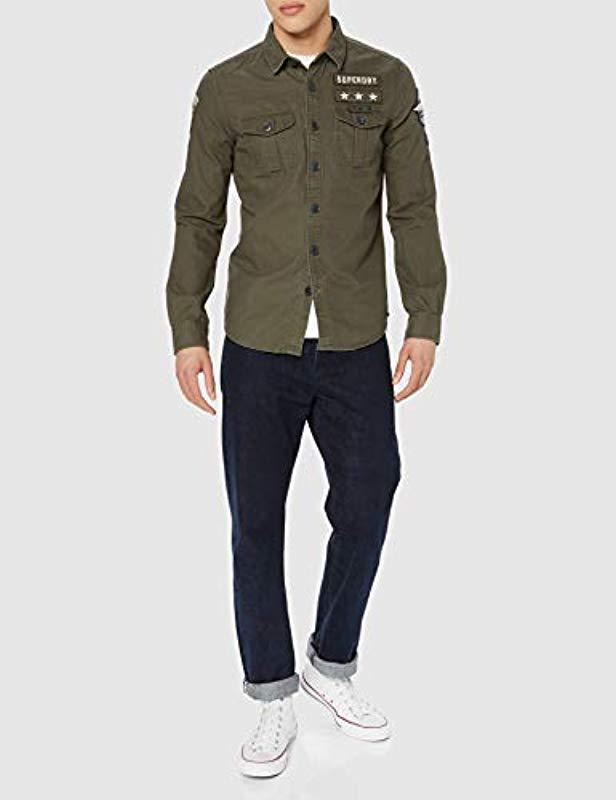 1d4715ffc86 Superdry  s Military Storm Shirt Sports in Green for Men - Lyst