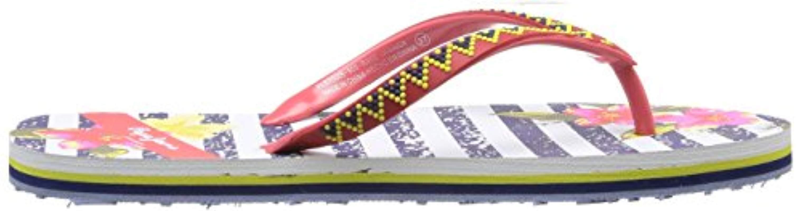 London RAKE Jamaica - Sandalias de Goma para Mujer Pepe Jeans de Denim