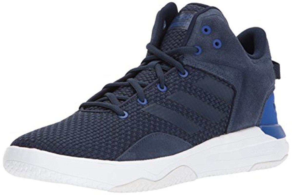 lyst adidas del revival a metà il basket scarpa in blu per gli uomini