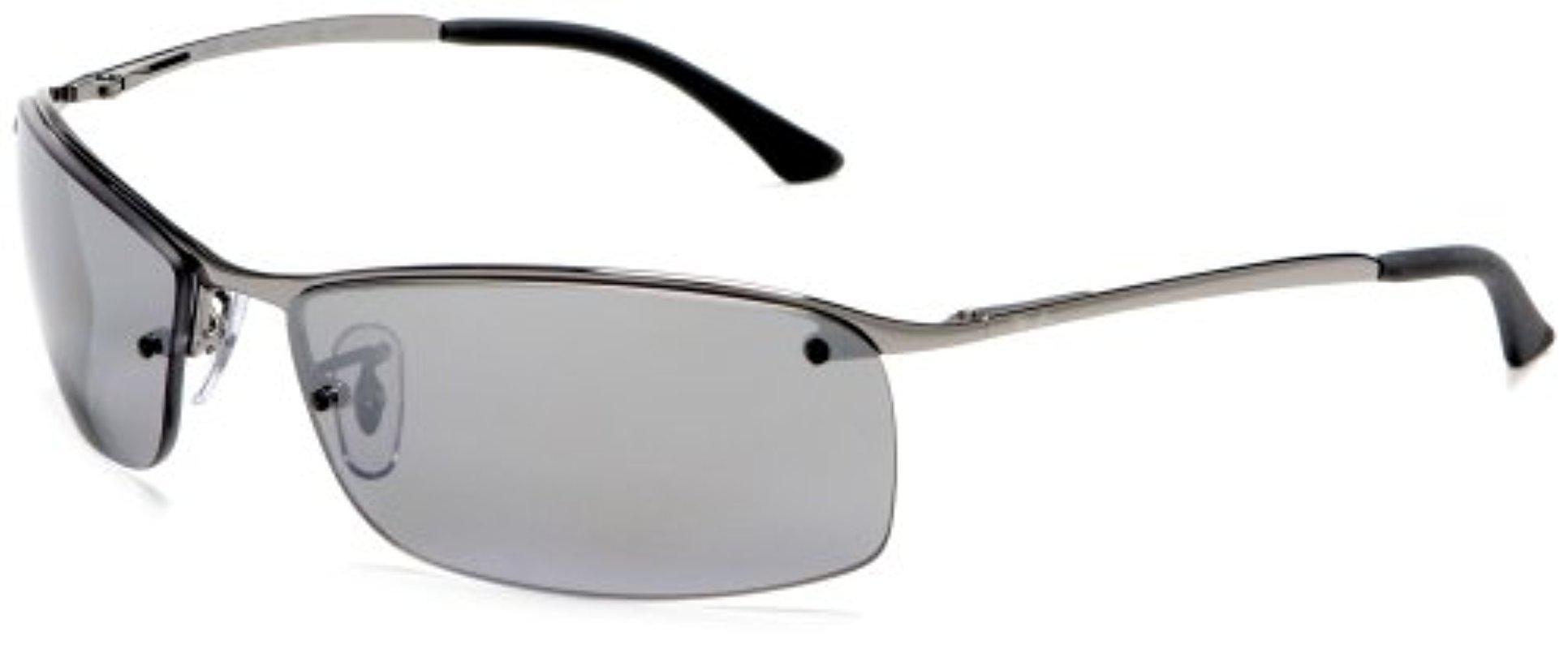 c616a5b105 Lyst - Ray-Ban Rb3183 - Gunmetal Frame Polar Grey Mirror Silver Grad ...