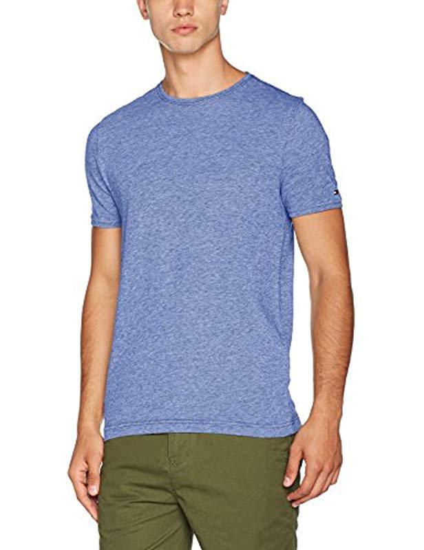 09ba01db6b82 Tommy Hilfiger Owen Pique C-nk Tee S s Rf T-shirt in Blue for Men - Lyst