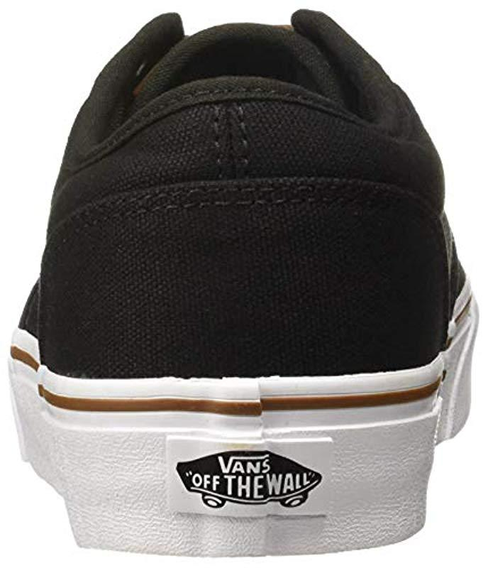 e5066db289 Vans - Black  s Atwood Canvas Trainers for Men - Lyst. View fullscreen