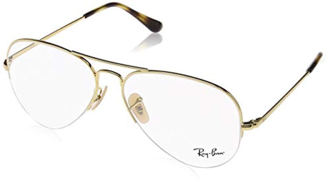 dc5264796966 Ray-Ban Metallic Rx6589 Glasses In Gold Rx6589 2500 56 for men. View  fullscreen